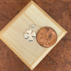 Sterling Silver Polished 4-Leaf Clover Pendant Charm