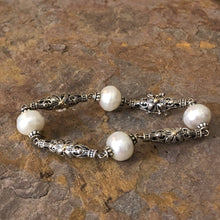 Load image into Gallery viewer, 14KT Yellow Gold + Sterling Silver Link Paspaley South Sea Pearl Bracelet, 14KT Yellow Gold + Sterling Silver Link Paspaley South Sea Pearl Bracelet - Legacy Saint Jewelry