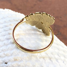 Load image into Gallery viewer, 14KT Yellow Gold Diamond Leaf Ring, 14KT Yellow Gold Diamond Leaf Ring - Legacy Saint Jewelry