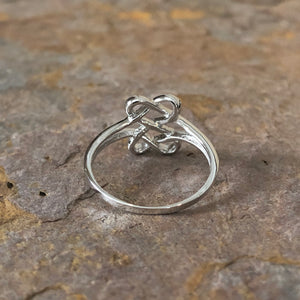 Sterling Silver Celtic Trinity Open Weave Ring Size 7, Sterling Silver Celtic Trinity Open Weave Ring Size 7 - Legacy Saint Jewelry