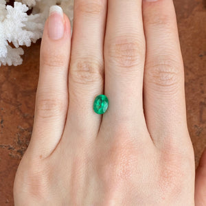 Colombian Emerald Oval Cut Loose Emerald 1.98 CT