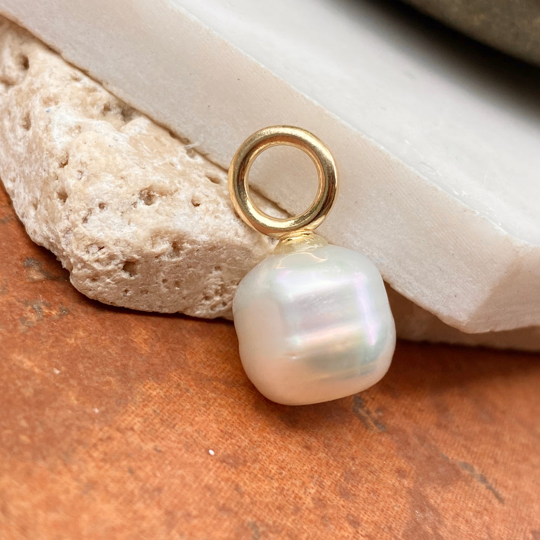 14KT Yellow Gold Paspaley South Sea Pearl Simple Pendant 12mm/ FINE #1, 14KT Yellow Gold Paspaley South Sea Pearl Simple Pendant 12mm/ FINE #1 - Legacy Saint Jewelry