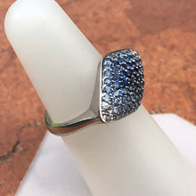 Load image into Gallery viewer, Estate 14KT White Gold Pave Blue Sapphire + Diamond Marquise Ring, Estate 14KT White Gold Pave Blue Sapphire + Diamond Marquise Ring - Legacy Saint Jewelry