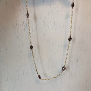 "14KT Yellow Gold + Chocolate Link Necklace Chain 24"", 14KT Yellow Gold + Chocolate Link Necklace Chain 24"" - Legacy Saint Jewelry"