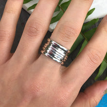 Load image into Gallery viewer, Sterling Silver 3-Wire Spinner Cigar Band Ring, Sterling Silver 3-Wire Spinner Cigar Band Ring - Legacy Saint Jewelry