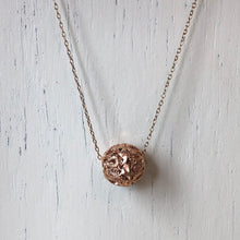 Load image into Gallery viewer, 14KT Rose Gold Diamond-Cut Filigree Ball Pendant Charm, 14KT Rose Gold Diamond-Cut Filigree Ball Pendant Charm - Legacy Saint Jewelry