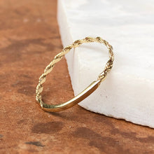 Load image into Gallery viewer, 14KT Yellow Gold Diamond Cut Rope Band Ring, 14KT Yellow Gold Diamond Cut Rope Band Ring - Legacy Saint Jewelry