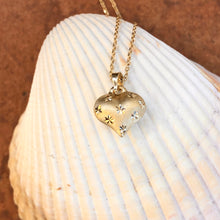 Load image into Gallery viewer, 14KT Yellow Gold Satin Diamond-Cut Puffed Heart Pendant Necklace, 14KT Yellow Gold Satin Diamond-Cut Puffed Heart Pendant Necklace - Legacy Saint Jewelry