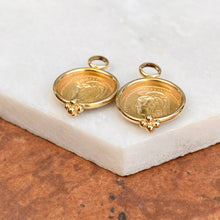 Load image into Gallery viewer, Estate 14KT Yellow Gold Matte Replica Roman Coin Earrings Charms