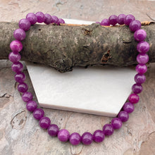"Load image into Gallery viewer, Sterling Silver Purple Lepidolite Bead Toggle Clasp Necklace 16.5"", Sterling Silver Purple Lepidolite Bead Toggle Clasp Necklace 16.5"" - Legacy Saint Jewelry"