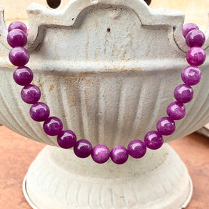 "Sterling Silver Purple Lepidolite Bead Toggle Clasp Necklace 16.5"", Sterling Silver Purple Lepidolite Bead Toggle Clasp Necklace 16.5"" - Legacy Saint Jewelry"