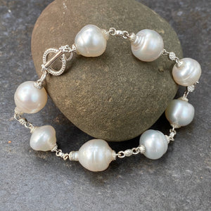14KT White Gold +  Paspaley South Sea Pearl Spacers Bracelet, 14KT White Gold +  Paspaley South Sea Pearl Spacers Bracelet - Legacy Saint Jewelry