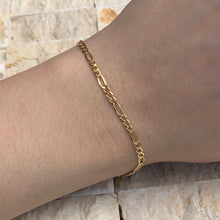 "Load image into Gallery viewer, 14KT Yellow Gold Figaro Link Bracelet 10"", 14KT Yellow Gold Figaro Link Bracelet 10"" - Legacy Saint Jewelry"