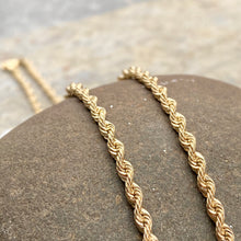 "Load image into Gallery viewer, 10KT Yellow Gold Diamond-Cut Hollow Rope Chain Necklace 20""/ 2.9mm, 10KT Yellow Gold Diamond-Cut Hollow Rope Chain Necklace 20""/ 2.9mm - Legacy Saint Jewelry"