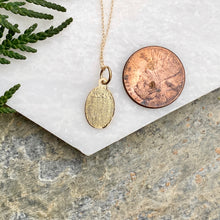 Load image into Gallery viewer, 10KT Yellow Gold Saint Christoper Medal Chain Necklace, 10KT Yellow Gold Saint Christoper Medal Chain Necklace - Legacy Saint Jewelry