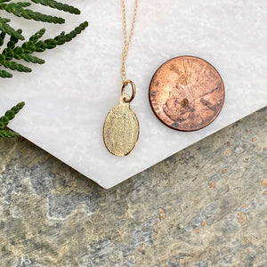 10KT Yellow Gold Saint Christoper Medal Chain Necklace, 10KT Yellow Gold Saint Christoper Medal Chain Necklace - Legacy Saint Jewelry