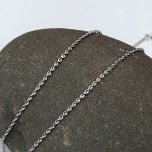 "10KT White Gold Diamond-Cut Rope Chain Necklace 16""/ 1.4 mm, 10KT White Gold Diamond-Cut Rope Chain Necklace 16""/ 1.4 mm - Legacy Saint Jewelry"