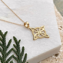 Load image into Gallery viewer, 14KT Yellow Gold Celtic Eternity Knot Chain Necklace, 14KT Yellow Gold Celtic Eternity Knot Chain Necklace - Legacy Saint Jewelry