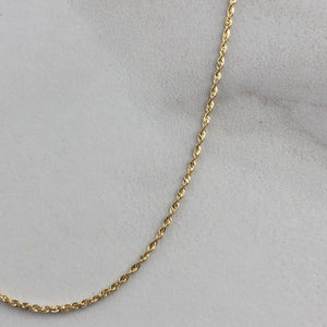 "10KT Yellow Gold Rope Chain Necklace 30""/ 1.5mm, 10KT Yellow Gold Rope Chain Necklace 30""/ 1.5mm - Legacy Saint Jewelry"