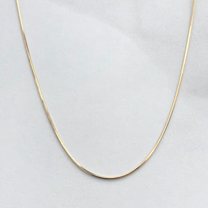 "14KT Yellow Gold Polished Octagonal Snake Chain Necklace 20"", 14KT Yellow Gold Polished Octagonal Snake Chain Necklace 20"" - Legacy Saint Jewelry"