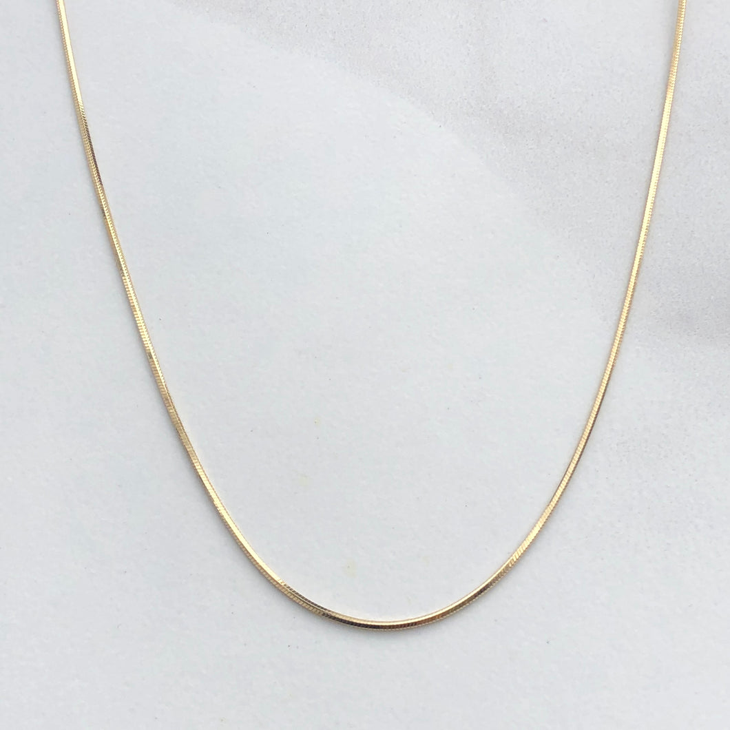 14KT Yellow Gold Polished Octagonal Snake Chain Necklace 20