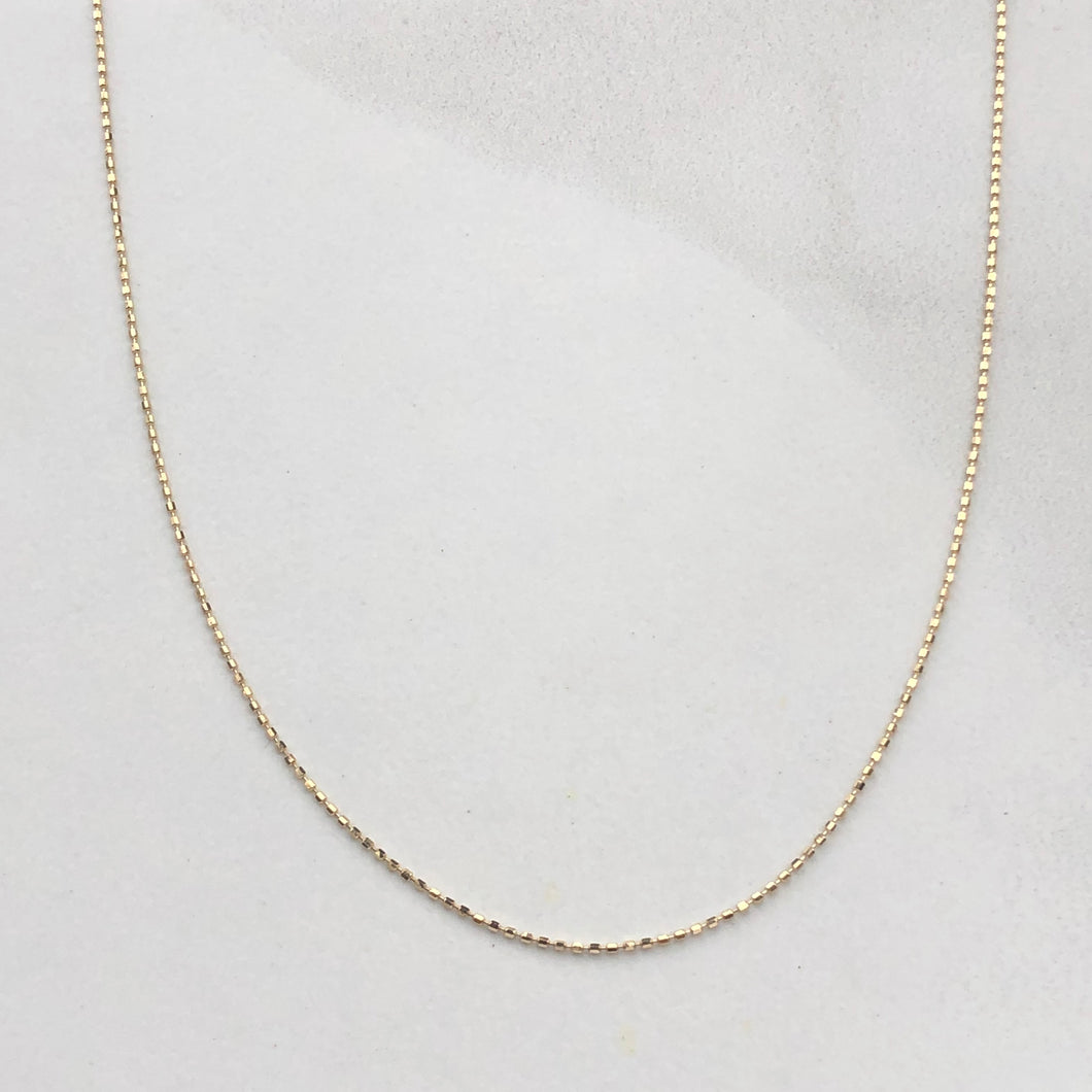 14KT Yellow Gold Beaded Ball Link Chain Necklace 18