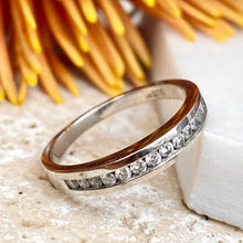 Load image into Gallery viewer, Estate 14KT White Gold Diamond Thin Band Ring, Estate 14KT White Gold Diamond Thin Band Ring - Legacy Saint Jewelry