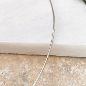 "Sterling Silver Mesh Cable Neck Wire Collar Necklace 16""/ 1mm, Sterling Silver Mesh Cable Neck Wire Collar Necklace 16""/ 1mm - Legacy Saint Jewelry"