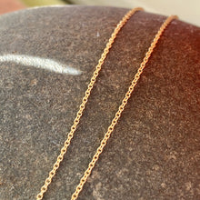 Load image into Gallery viewer, 14KT Yellow Gold Cable Chain Necklace .9mm, 14KT Yellow Gold Cable Chain Necklace .9mm - Legacy Saint Jewelry