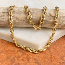 "Load image into Gallery viewer, Estate 10KT Yellow Gold Polished 3.5mm Rope Chain Bracelet 9.25"", Estate 10KT Yellow Gold Polished 3.5mm Rope Chain Bracelet 9.25"" - Legacy Saint Jewelry"