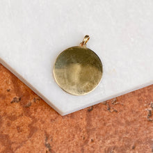 Load image into Gallery viewer, 14KT Yellow Gold Matte Ichthus Round Medal Disc Pendant, 14KT Yellow Gold Matte Ichthus Round Medal Disc Pendant - Legacy Saint Jewelry