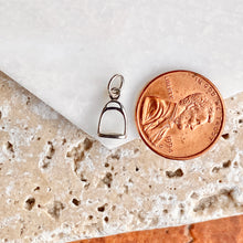 Load image into Gallery viewer, Sterling Silver Horse Stirrup Mini Pendant Charm, Sterling Silver Horse Stirrup Mini Pendant Charm - Legacy Saint Jewelry