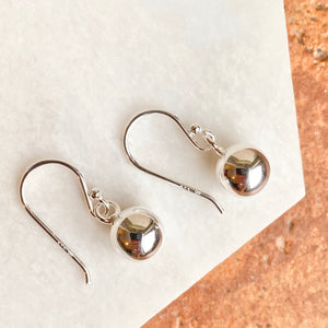 Sterling Silver Dangle Balls Shepard Hook Earrings, Sterling Silver Dangle Balls Shepard Hook Earrings - Legacy Saint Jewelry