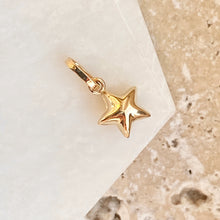 Load image into Gallery viewer, 14KT Yellow Gold 3D Puffed Mini Star Pendant Charm, 14KT Yellow Gold 3D Puffed Mini Star Pendant Charm - Legacy Saint Jewelry