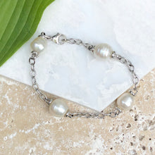 Load image into Gallery viewer, 14KT White Gold Open Link Chain + Paspaley South Sea Pearl Bracelet, 14KT White Gold Open Link Chain + Paspaley South Sea Pearl Bracelet - Legacy Saint Jewelry
