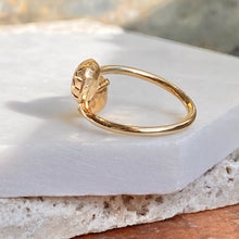 Load image into Gallery viewer, 10KT Yellow Gold Bypass Ring With Puffed Hollow Squares, 10KT Yellow Gold Bypass Ring With Puffed Hollow Squares - Legacy Saint Jewelry