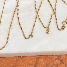 "Load image into Gallery viewer, 10KT Yellow Gold Diamond-Cut 1mm Singapore Chain Necklace 24"", 10KT Yellow Gold Diamond-Cut 1mm Singapore Chain Necklace 24"" - Legacy Saint Jewelry"