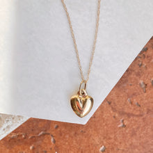 Load image into Gallery viewer, 14KT Yellow Gold Small 3-D Heart Pendant Chain Necklace, 14KT Yellow Gold Small 3-D Heart Pendant Chain Necklace - Legacy Saint Jewelry