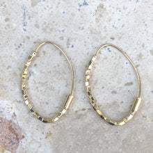Load image into Gallery viewer, 14KT Yellow Gold Threader Ear Wire Hoop Earrings, 14KT Yellow Gold Threader Ear Wire Hoop Earrings - Legacy Saint Jewelry