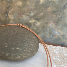 Load image into Gallery viewer, 14KT Rose Gold Thin Neck Wire Weave Chain Omega Necklace 1.4mm, 14KT Rose Gold Thin Neck Wire Weave Chain Omega Necklace 1.4mm - Legacy Saint Jewelry