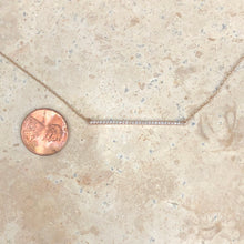 Load image into Gallery viewer, 14KT Rose Gold Diamond Bar Chain Necklace, 14KT Rose Gold Diamond Bar Chain Necklace - Legacy Saint Jewelry