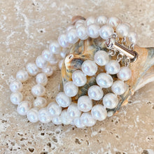 Load image into Gallery viewer, Sterling Silver White Freshwater Cultured Pearl Triple Strand Bracelet, Sterling Silver White Freshwater Cultured Pearl Triple Strand Bracelet - Legacy Saint Jewelry