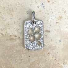 Load image into Gallery viewer, Sterling Silver Irish 4-Leaf Clover Lucky Dogtag Pendant Charm, Sterling Silver Irish 4-Leaf Clover Lucky Dogtag Pendant Charm - Legacy Saint Jewelry