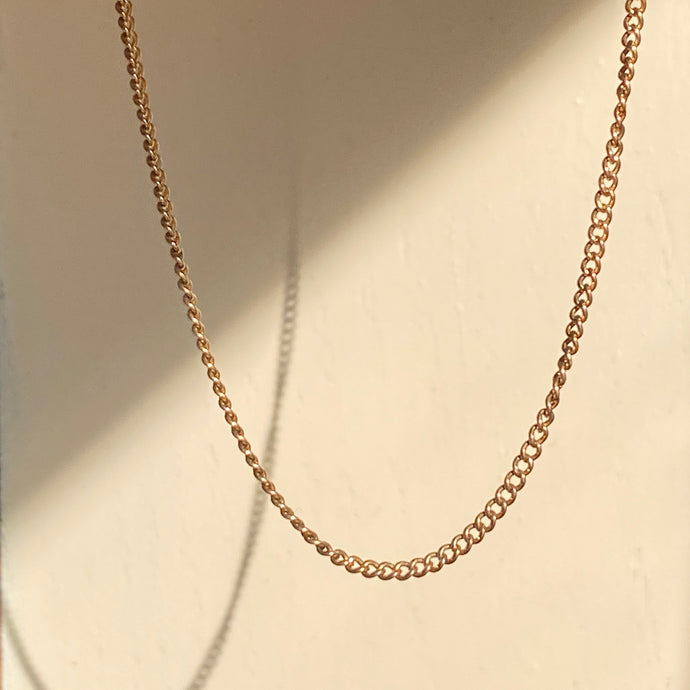 Estate 14KT Yellow Gold Cable Chain Necklace 17.5
