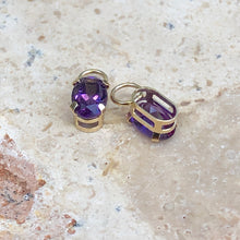 Load image into Gallery viewer, Estate 14KT Yellow Gold Amethyst Earring Charms, Estate 14KT Yellow Gold Amethyst Earring Charms - Legacy Saint Jewelry