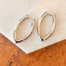 Load image into Gallery viewer, Sterling Silver Oval Round Tube Hinged Huggie Hoop Earrings, Sterling Silver Oval Round Tube Hinged Huggie Hoop Earrings - Legacy Saint Jewelry