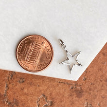 Load image into Gallery viewer, 10KT White Gold Diamond-Cut Star Pendant Charm, 10KT White Gold Diamond-Cut Star Pendant Charm - Legacy Saint Jewelry
