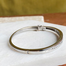 Load image into Gallery viewer, Estate 14KT White Gold Graduated Channel Set Diamond Bangle Bracelet, Estate 14KT White Gold Graduated Channel Set Diamond Bangle Bracelet - Legacy Saint Jewelry
