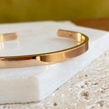 Load image into Gallery viewer, 14KT Yellow Gold Polished Solid Open Cuff Bracelet 4mm, 14KT Yellow Gold Polished Solid Open Cuff Bracelet 4mm - Legacy Saint Jewelry