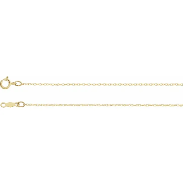 10KT Yellow Gold Rope Choker Chain Necklace .75mm/ 14